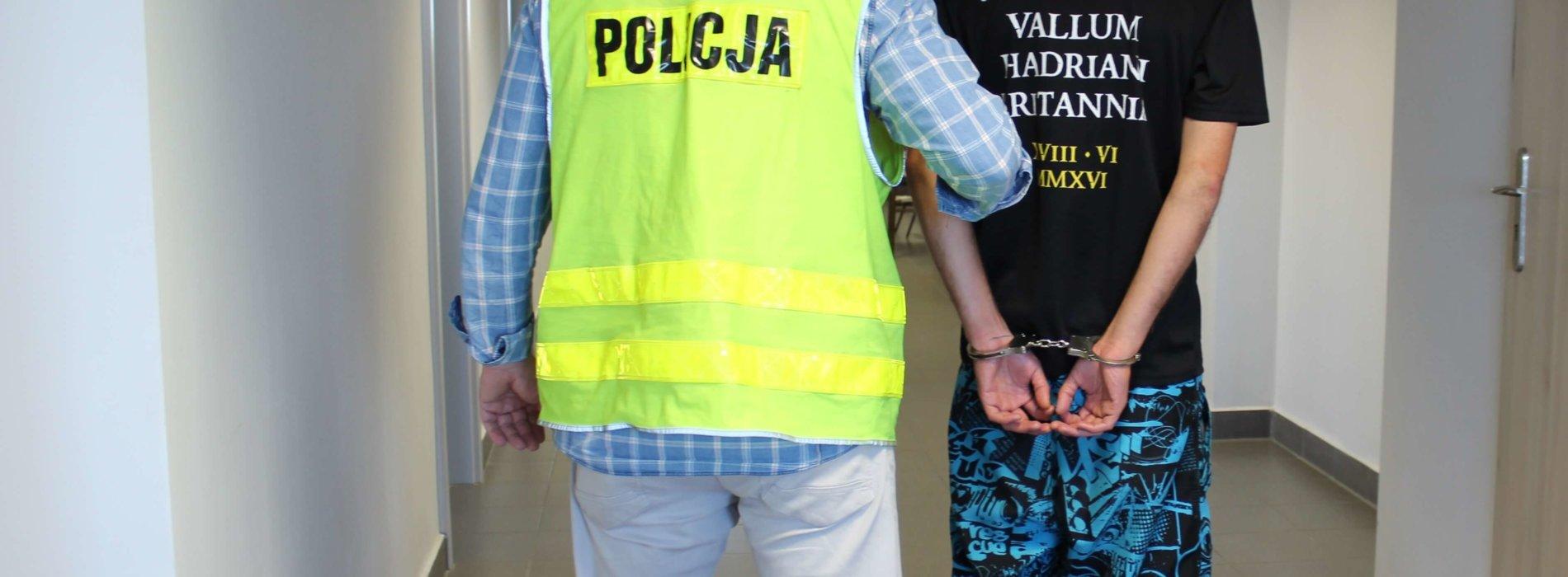 WŁAMYWACZ W RĘKACH PIOTRKOWSKICH POLICJANTÓW